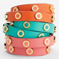 Tory Burch &#x27;Cole&#x27; Logo Double Wrap Bracelet | Nordstrom