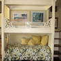 Adorable Custom Bunk Bed with Canopy / Juliet Balcony and Trundle
