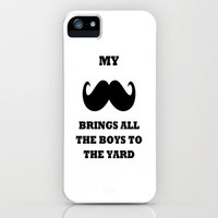 My Mustache - white iPhone Case by Ian Layne | Society6