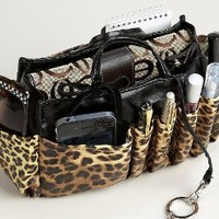 "Amazon.com: Jolie Leopard and Black Handbag Organizer Tote Travel Cosmetic Make-Up Bag Very Lightweight Insert Dimensions: L 7.5""x H 6""x W 3.5"": Health & Personal Care"