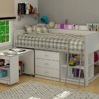 Rack Furniture Clairmont Loft bed,White:Amazon:Home &amp; Kitchen
