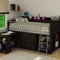 Rack Furniture Clairmont Loft Bed,Espresso:Amazon:Home & Kitchen