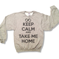 Keep Calm and Take Me Home  One Direction Sweatshirt  by scstees