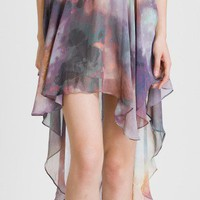 Galaxy Asymmetric Waterfall Chiffon Skirt - New Arrivals - Retro, Indie and Unique Fashion ($20-50)
