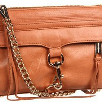 Rebecca Minkoff Mini Mac H652F01C Clutch,Almond,One Size: Clothing