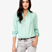 Shawl Collar Georgette Top