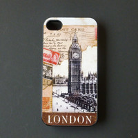 Hard iPhone Case Big Ben London Vintage Custom by CreateItYourWay
