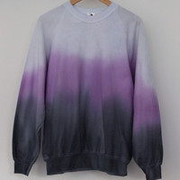 ANDCLOTHING — Purple Dusk Dip Dye Sweater <em>SOLD OUT</em>