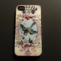 Hard iPhone Case Vintage Bird Custom by CreateItYourWay on Etsy