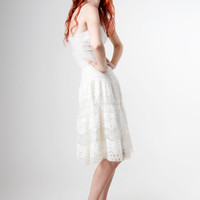 PRE ORDER  Mohair Knitted Lace Dress by Minus40 on Etsy