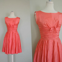 Pretty Pink 1950s Dress / Pink Valentines by WayfaringMagnolia