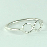 Infinity Symbol Ring Sterling Silver Infinity Ring  by Excognito