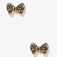 Sparkling Bow Earrings