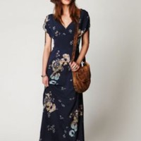 Free People Stardust Short Sleeve Maxi Dress at Free People Clothing Boutique