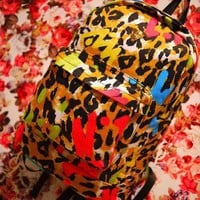 Cool Colourful Leopard Backpack Bag on Luulla