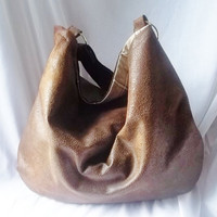 Brown Handbag  Brown Suede Hobo bag  Ultra Suede Animal by ACAmour