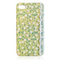 Handcraft Retro Lace Fabric iPhone 4/4S Case