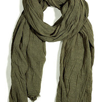 STYLEBOP.com | Military Olive Fringed Scarf by CLOSED | the latest trends from the fashion capitals of the world