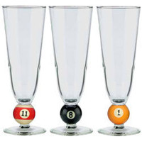 12 oz Pilsner Billiard Ball Glass - Billiards Accessories - PokerGamingProducts.com