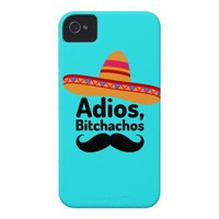 Adios Bitchachos iPhone 4/4S Case from Zazzle.com