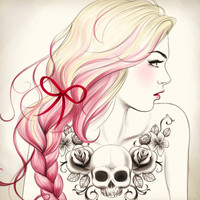 Tattoo Girl Art Print by Tati Ferrigno | Society6
