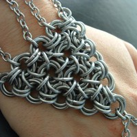 Mobius Mania Hand Flower Aluminum Chainmail by JSWMetalWorks