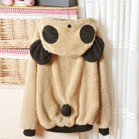 Light Khaki Lovely Panda Super Adorable Cardigan Sweater