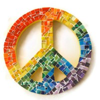 Rainbow Mosaic Peace Sign on Luulla