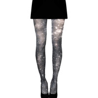 Dark Nebula Galaxy Tights, Black Ombre Tights, Sheer Leggings