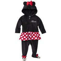 Minnie Mouse Infant Girls Hooded Character Coverall Outfit (6-9 Months)