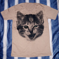 Cute Cat T-Shirt -- Cat Shirt Animal Shirt Unisex T-Shirt Women T-Shirt Men T-Shirt Animal T-Shirt Short Sleeve Shirt Size M