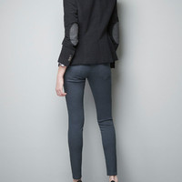 MOLESKIN BLAZER WITH ELBOW PATCHES - Last sizes - Woman - ZARA United States