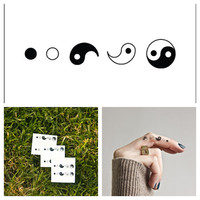 Ying & Yang - temporary tattoo (Set of 6)