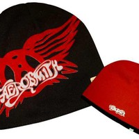 ROCKWORLDEAST - Aerosmith, Beanie Hat, Reversible Black & Red