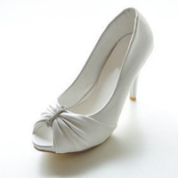 Leatherette Upper Stiletto Heel Pumps With Rhinestone Wedding Shoes.More Colors Available - $40.04