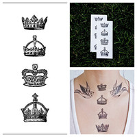 Crowns  temporary tattoo Set of 2 by Tattify on Etsy