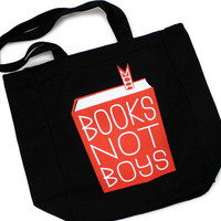 $16.00 TopatoCo: Books Not Boys Tote