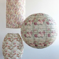 floral nostalgia lantern set at ShopRuche.com