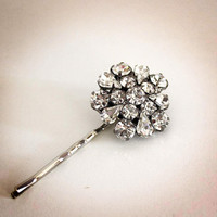 rhinestone bobby pin // bridal, wedding or valentines day gift