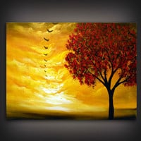 tree painting cloud painting large landscape abstract by mattsart