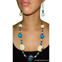 Aurora Necklace and pendants Tagua Exotic Ivory | Tagua Necklaces | Tagua Earrings