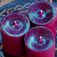 FAERIE DOOR Enchanting Soy Pillar Votives by ArtisanWitchcrafts