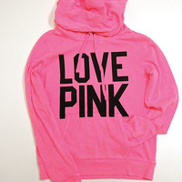 Victoria&#x27;s Secret Pink Hoodie Pullover Love Pink 86 Sweatshirt Sweat Shirt V039