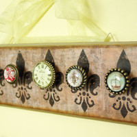 Paris Style Jewelry Display, Necklace Hanger, Distressed, Antiqued, Light Brown Rustic