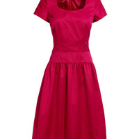 REISS Womens Lynnie Cherry Organza Seam Detail Dress