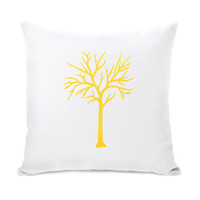 Decorative throw pillow case Bright yellow by ClassicByNature