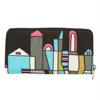 "Poketo Cole Gerst ""Skyline"" Canvas Zip Wallet"