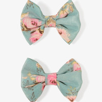 Rose Bow Hair Clips | FOREVER21 - 1030186645