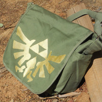 Legend of Zelda triforce eagle messenger tote bag by Stitch3d