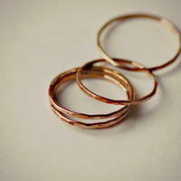 Thin Copper Stacking Ring Custom Sizes - Glow Stackers
